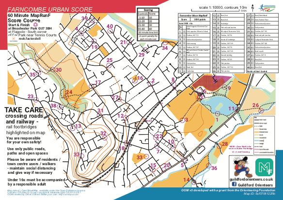 Farncombe Urban Score map