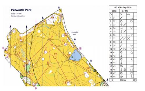 Petworth Park map