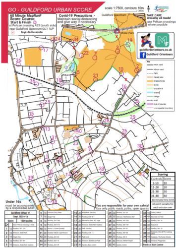 Guildford urban voc map