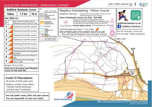 Newlands corner map